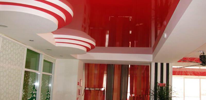 натяжные потолки примеры