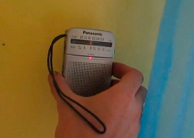 с помощью обычного радиоприемника