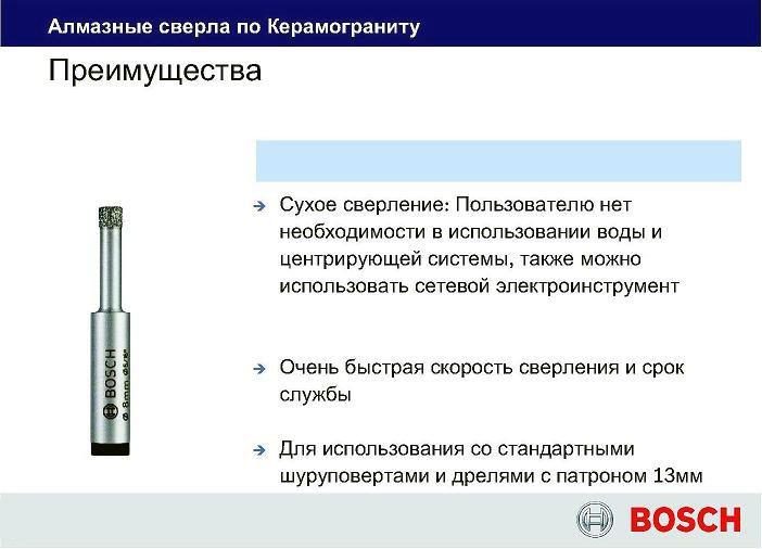 Преимущества сверла Bosch Easy Dry